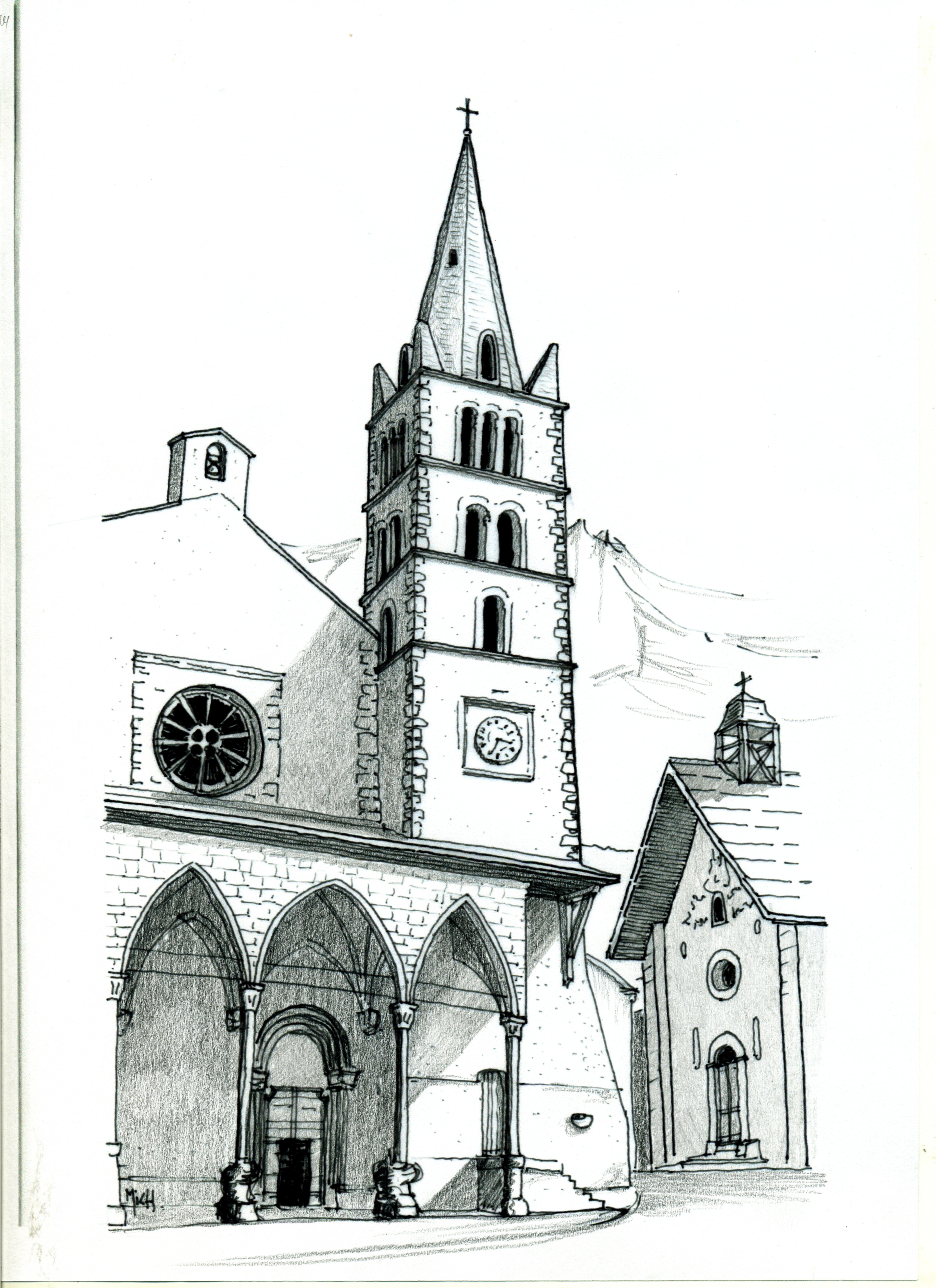 Paroisse du guillestrois ceillac vars risoul - Eglise dessin ...
